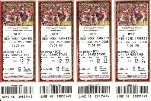 Red Sox - Yankees tickets