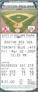 spring training ticket